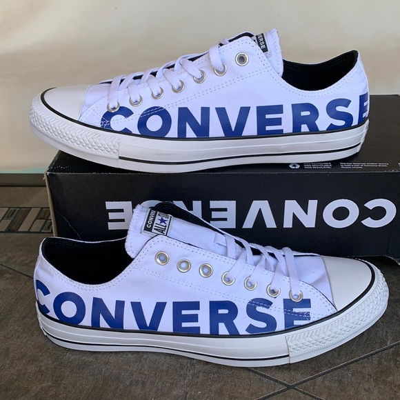 CONVERSE CTAS OX WHITE/BLUE/WHITE MEN'S